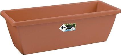 ELHO Barcelona All-In-1 anthrazit 50cm Kunststoff mit Untersetzer Balkonkasten