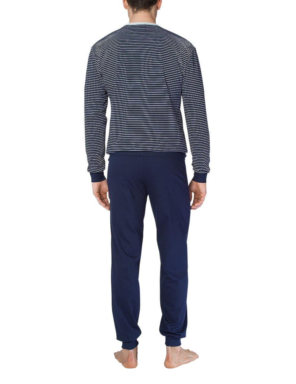 Calida Anthony Herren Pyjama Mit Bündchen, Conjuntos de Pijama para Hombre: Amazon.es: Ropa y accesorios