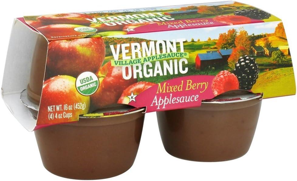 Vermont Village - Organic Applesauce Mixed Berry - 4 x 4 oz. Cups