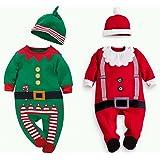 クリスマス 衣装 ロンパース サンタクロース 妖精 コスチューム 子供 キッズ ベビー 赤ちゃん 男の子 女の子 cos1035(赤(身長90cm))