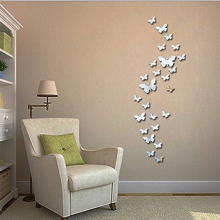 Adesivi a specchio da parete per camera da letto soggiorno sfondo ...