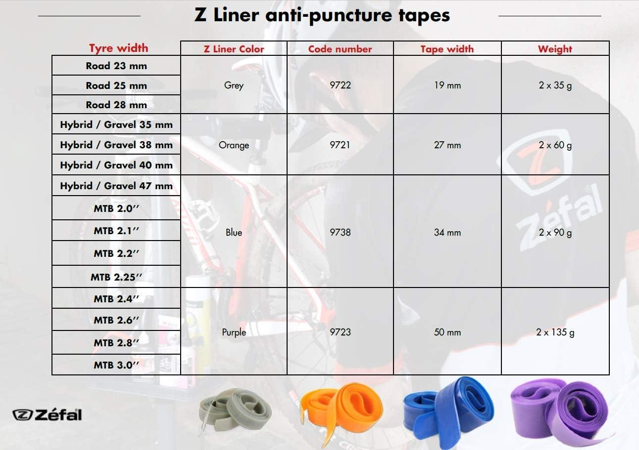 Haute r/ésistance ZEFAL Z-Liner Bande anti-crevaison pour pneu v/élo