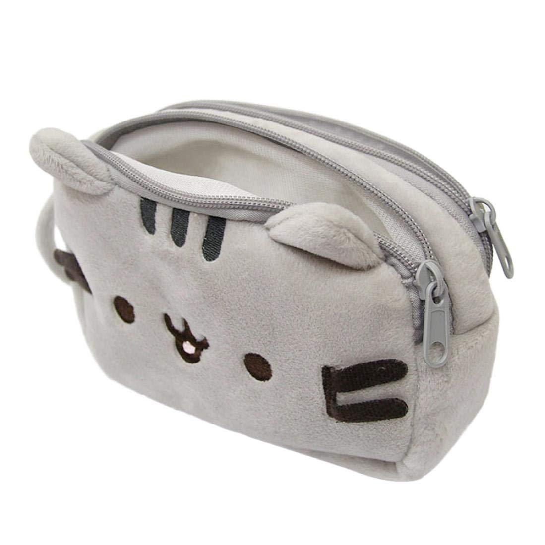 TAOtTAO - Estuche para lápices de gatos (felpa, bolígrafo, bolsa de maquillaje, bolsa de cosméticos, regalo de papelería): Amazon.es: Oficina y papelería