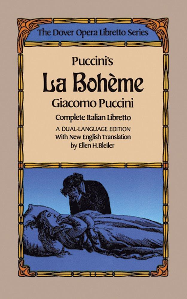 Puccini La Boheme Libretto Italian English Book (Dover Books on Music)