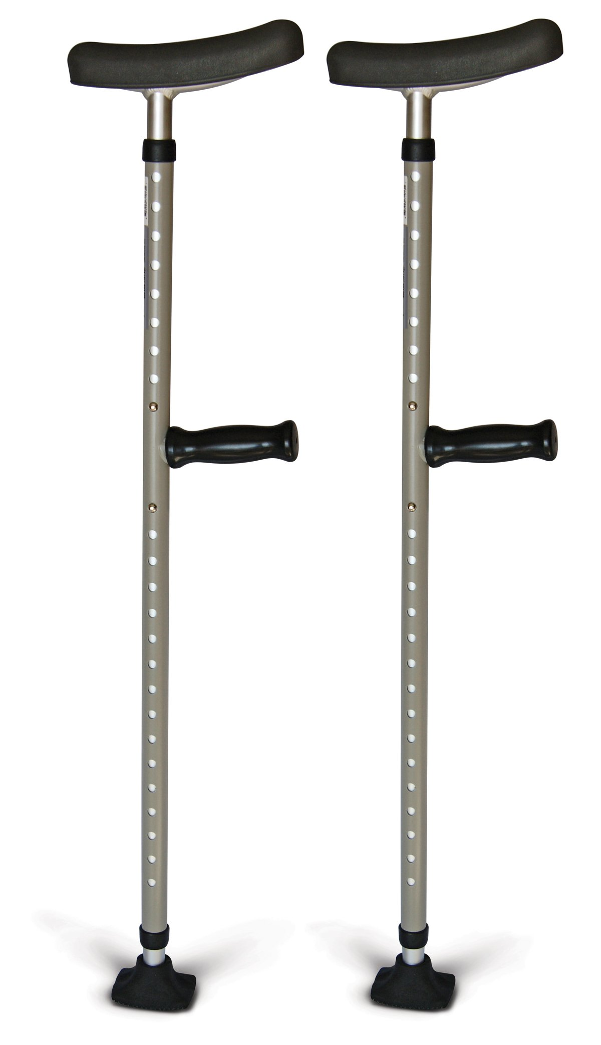 Medline MDS80542 Single Tube Crutches, Pewter (Pack of 8)