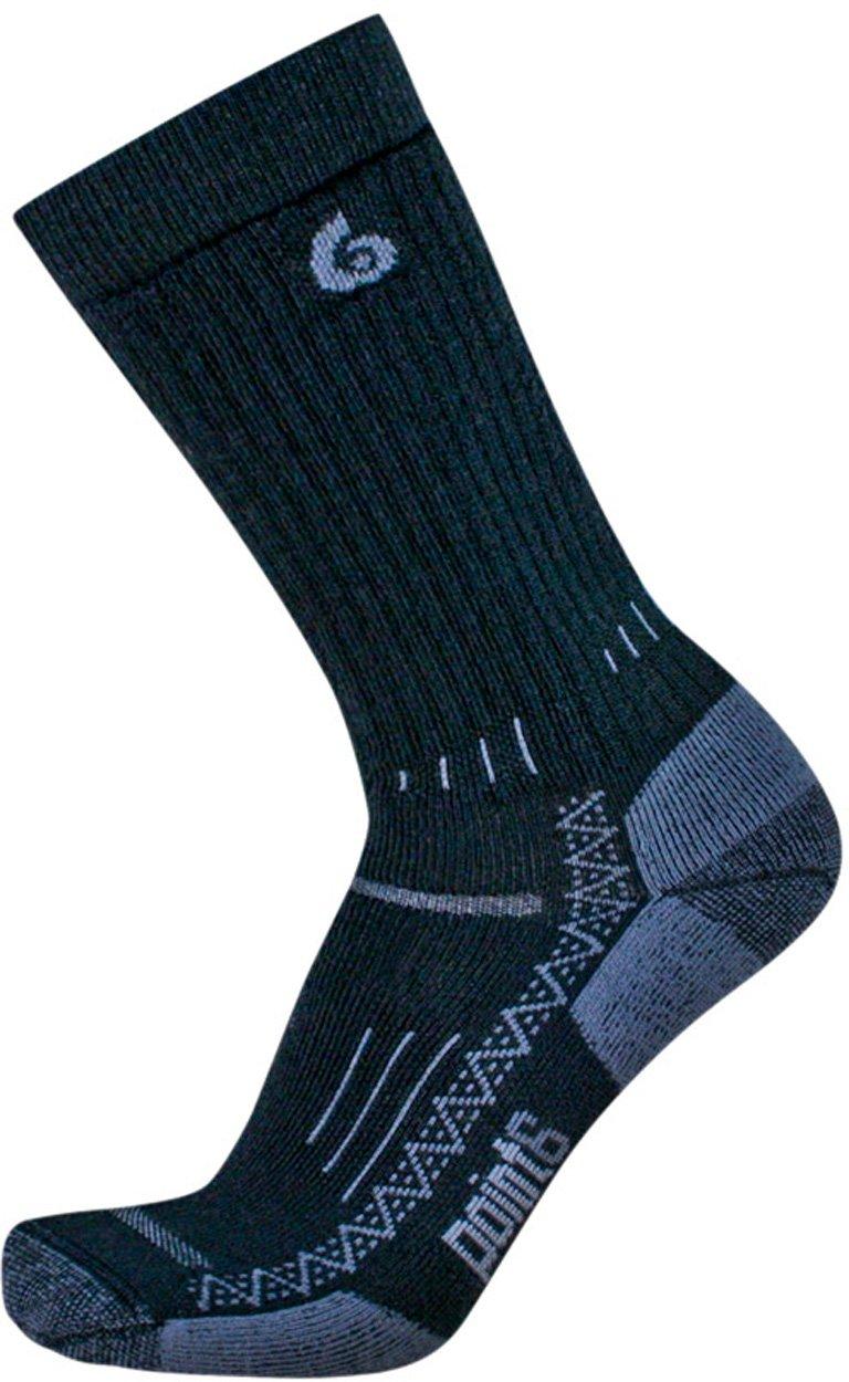 Point6 Hiking Essential Medium Crew Socks, Black, Medium by point6