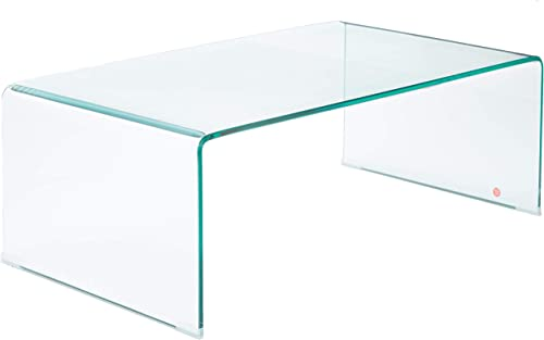 Christopher Knight Home Classon Glass Rectangle Coffee Table, Transparent