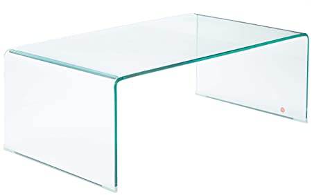Great Deal Furniture 296697 Classon Glass Rectangle Coffee Table, Transparent
