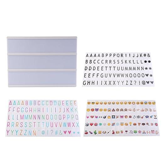 Caja de luz LED, lámpara de mesa con letras y símbolos emoji ...