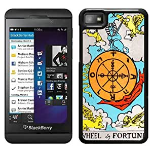 Beautiful Designed Cover Case For Blackberry Z10 With Tarot Fortune Black Phone Case