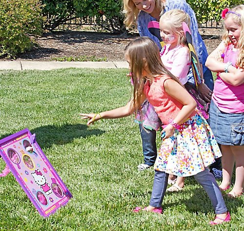 Amscan Bean Bag Toss Birthday Party Game, 6 Pieces, Made from Wood, Multi, by
