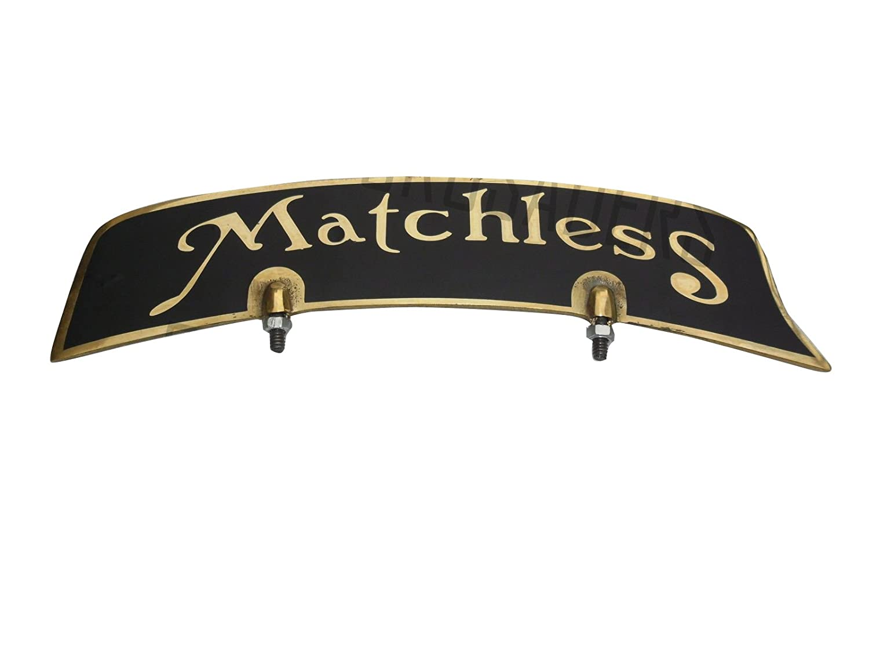 NEW Matchless Garde-boue avant en laiton plaque immatriculation