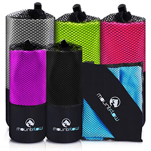 MountFlow Microfiber Travel Towel, Quick Dry Gym Towels for Yoga Outdoor Camping Beach Fitness...