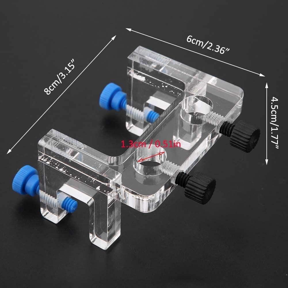 Aquarium Water Pipe Holder Fish Tank Hose Holder Acrylic Water Tube Clamp Fixed Clip Outflow Inflow Pipe Water Hose Mount Holder