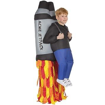 Morph Divertido Disfraz Inflable Jetpack Niños - Una talla le ...
