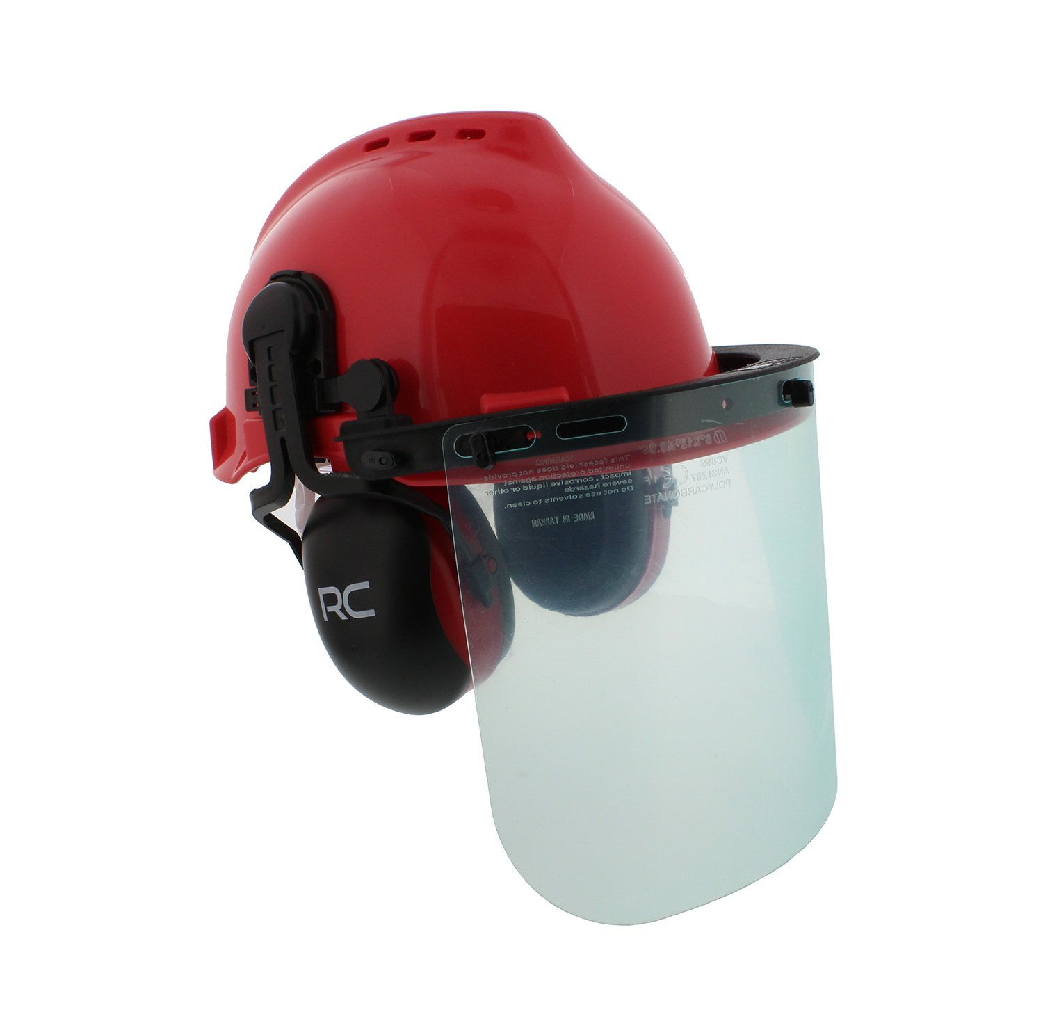 Forestry Safety Helmet – Vented Hard Hat, Mesh and Plastic Visors, Protective Earmuffs – Construction, Welding, Chainsaw