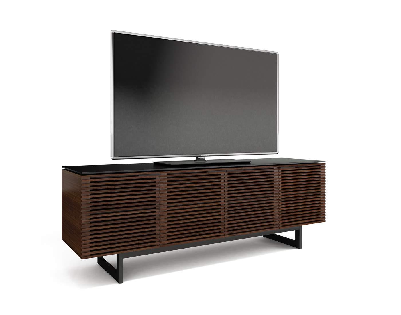 BDI Corridor Quad TV Stand Media Cabinet, Chocolate Stained Walnut