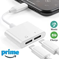 Smartphone 2 in 1 Headphone & Charger Adapter for iPhone