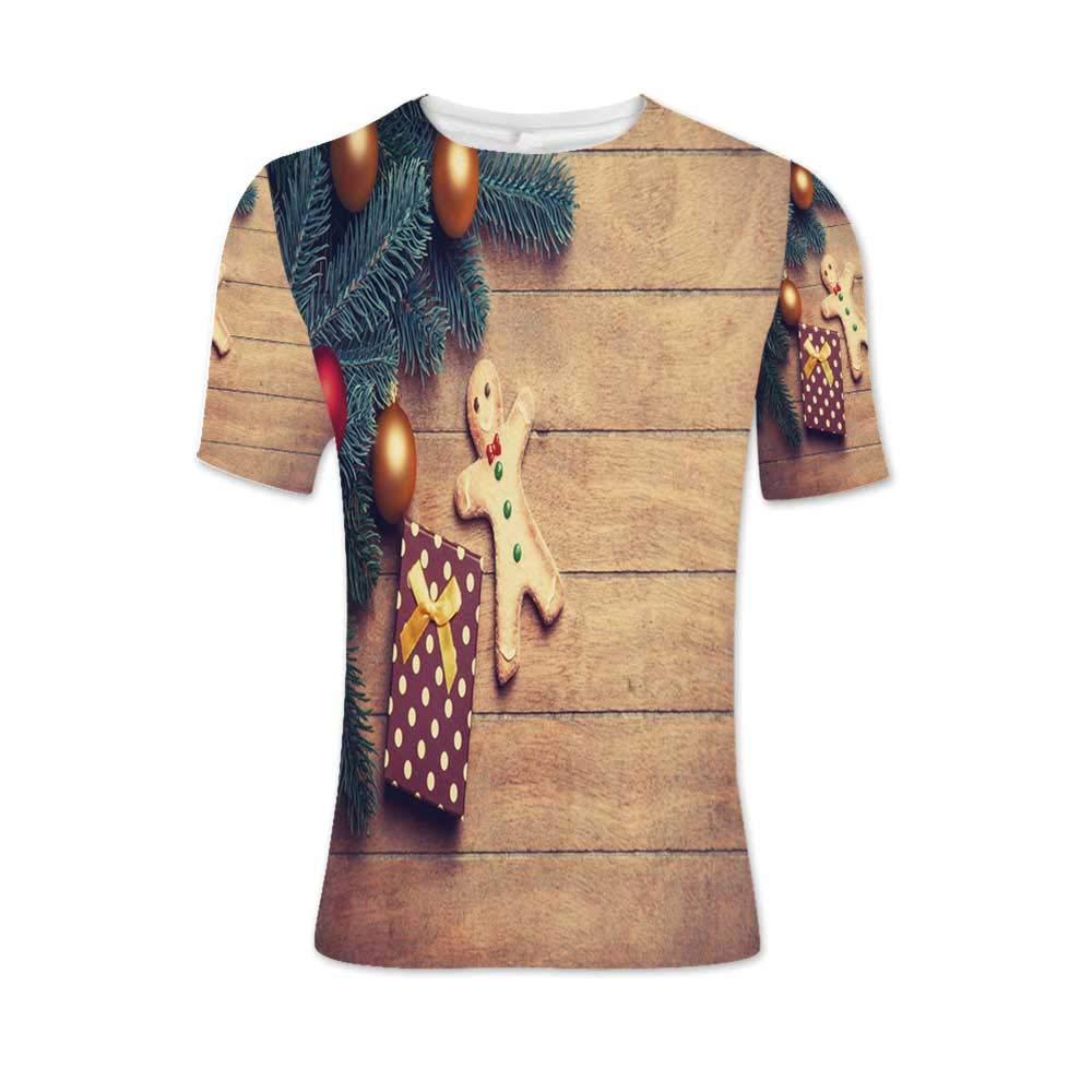Gingerbread Man Fashionable T Shirt,for Men,XL