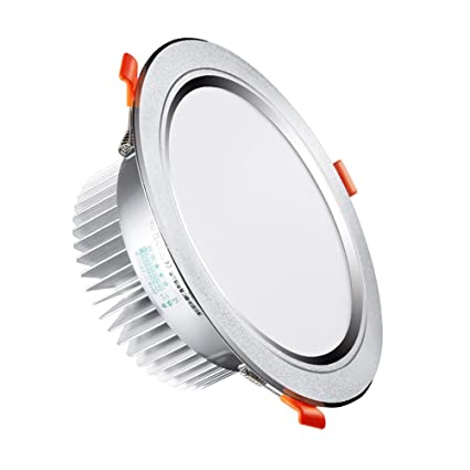 Splindg Moderna Superficie esmerilada Redonda LED empotrada ...