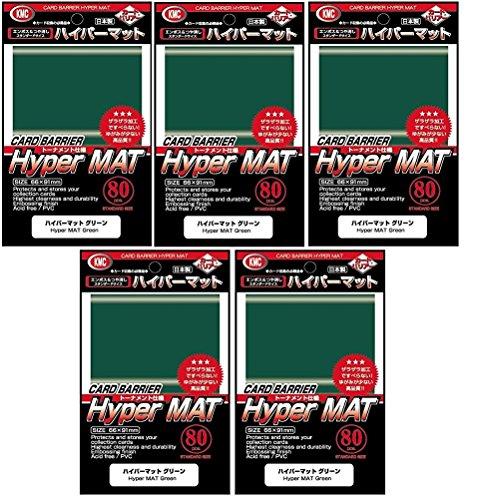 KMC Hyper Matte Sleeves (400 Pack), - Matte Green