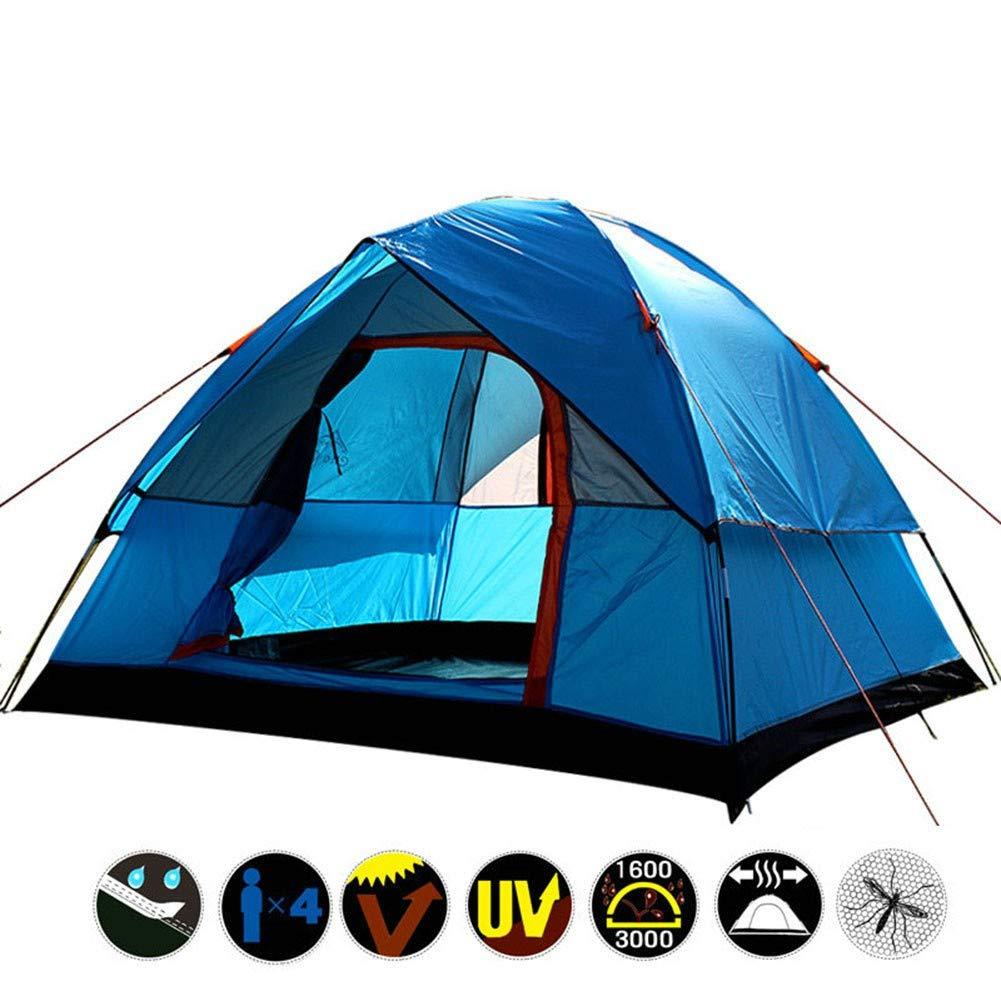 TENT-Z Outdoor-Campingzelt 4 Personen doppelschichtiges super wasserdichtes Zelt Gummi-Camping Zelt, Camping-Picknick-Set, 130  200  200cm
