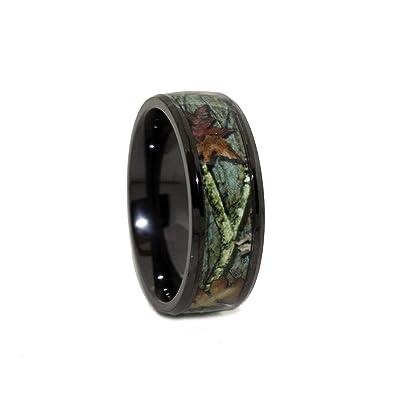 Black Camo Wedding Rings by #1 CAMO - Camo Engagement Ring - Black ...