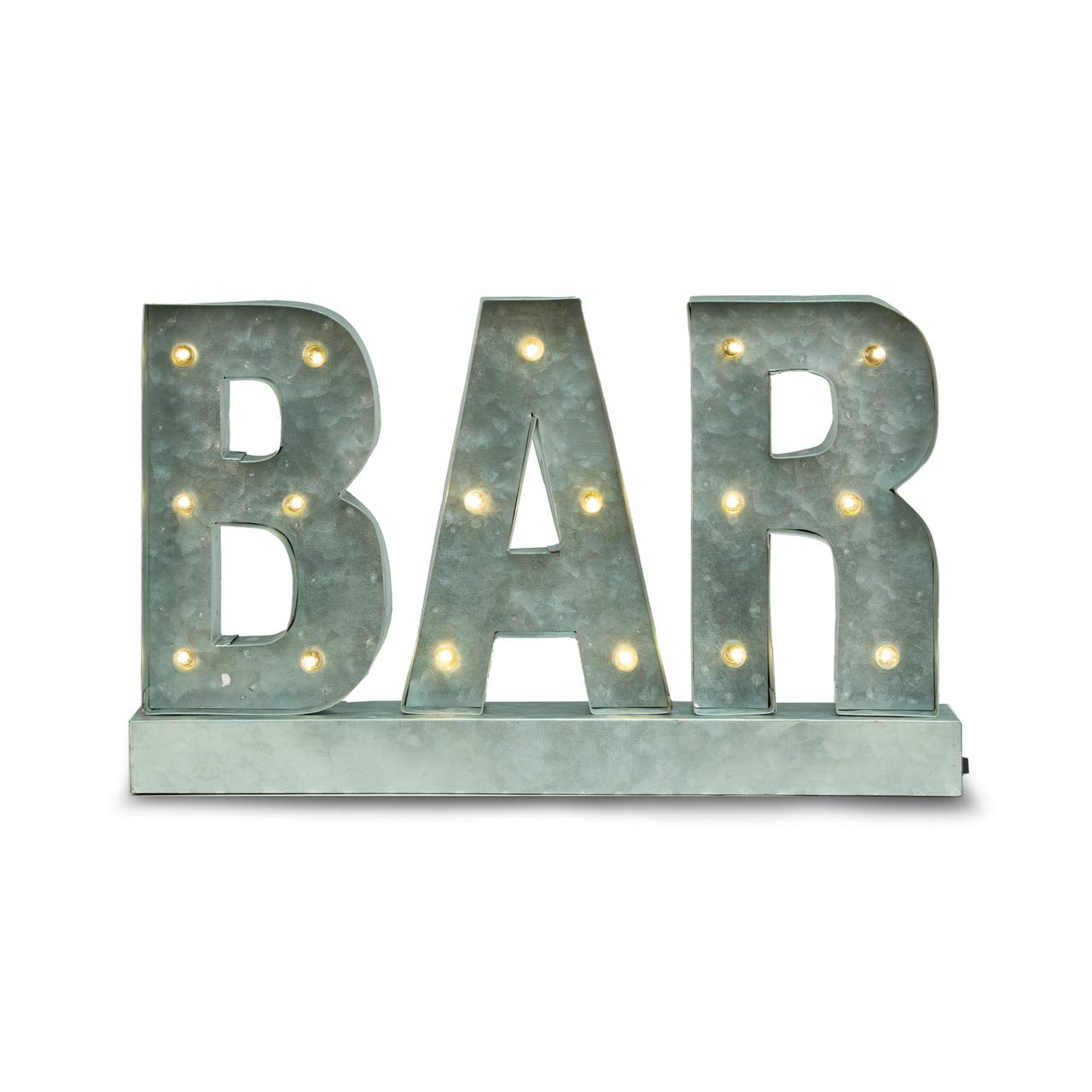 Marquee BAR Metal LED Lighted Large Decorative Sign Bey Berk