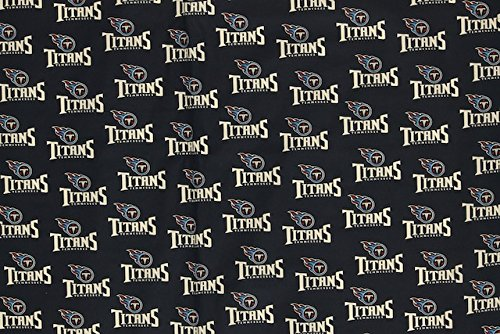 Tennessee Titans Football Navy Sheeting Fabric Cotton 5 Oz 58-60