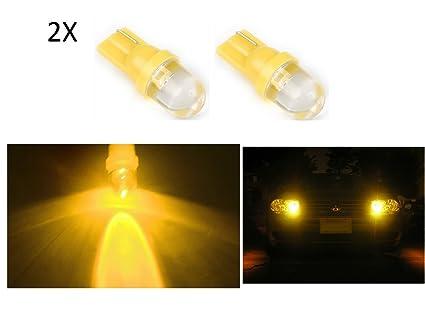 2 x luz de posición amarillo YELLOW Bombilla LED 12 V coche T10 6000 k,