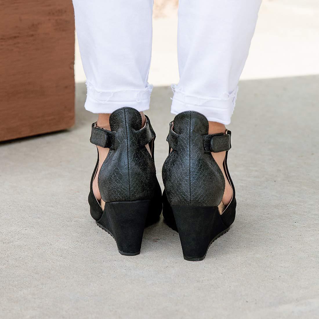 Amazon.com: Mafulus - Botas de tobillo con cuña recortada ...