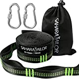 Tree Hammock & Swing Hanging Kit, Sahara Sailor Heavy Duty Non-Stretch Tree Hanging Straps with 2 Extra Strong Carabiners