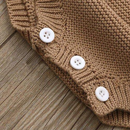 Coerni Infant Baby Cute Knit Warm Cotton Sleeveless Romper