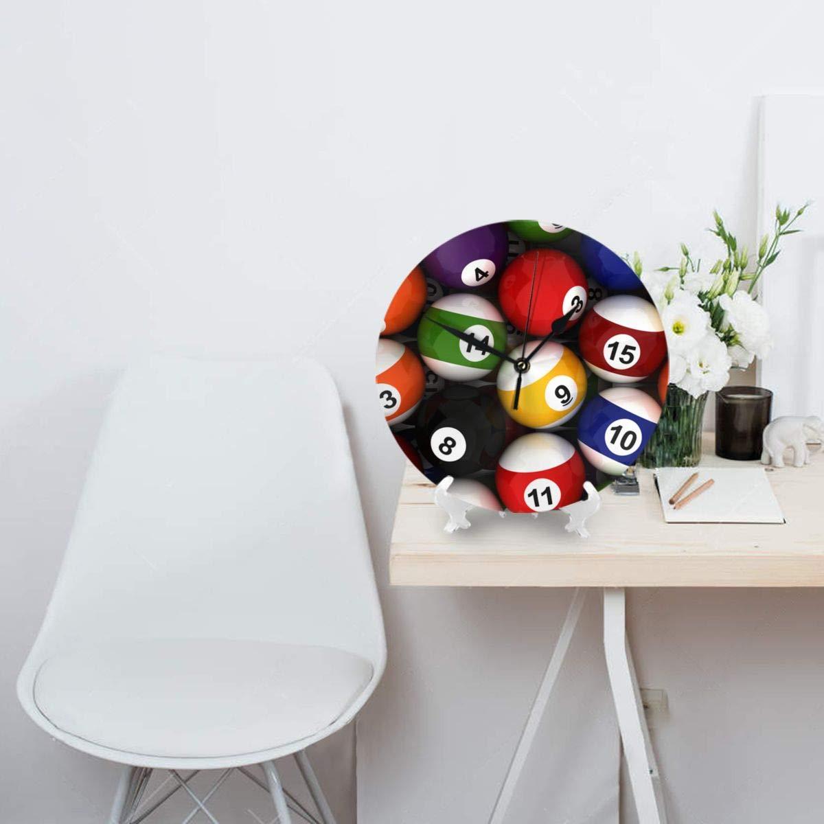 Reloj de pared decorativo, fondo con bolas de billar Relojes de ...