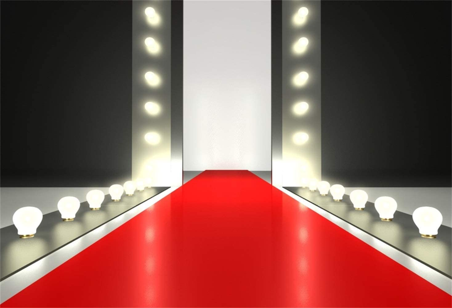 Red Carpet Stage Backdrop 10x6.5ft Polyester Cartoon Vintage Red Carpet Stairs to Throne Spotlight Photography Background Studio Child Adult Bride Wedding Portrait Shoot Show Party Banner