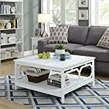 Convenience Concepts Omega Square 36-Inch Coffee Table, White