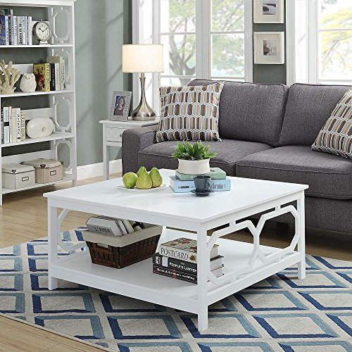 (Convenience Concepts Omega Square 36-Inch Coffee Table, White)
