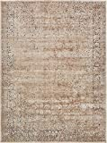 Texture Modern Carved Vintage Traditional Look & Feel Beige 9' x 12' Ephesus Collection Area Rug
