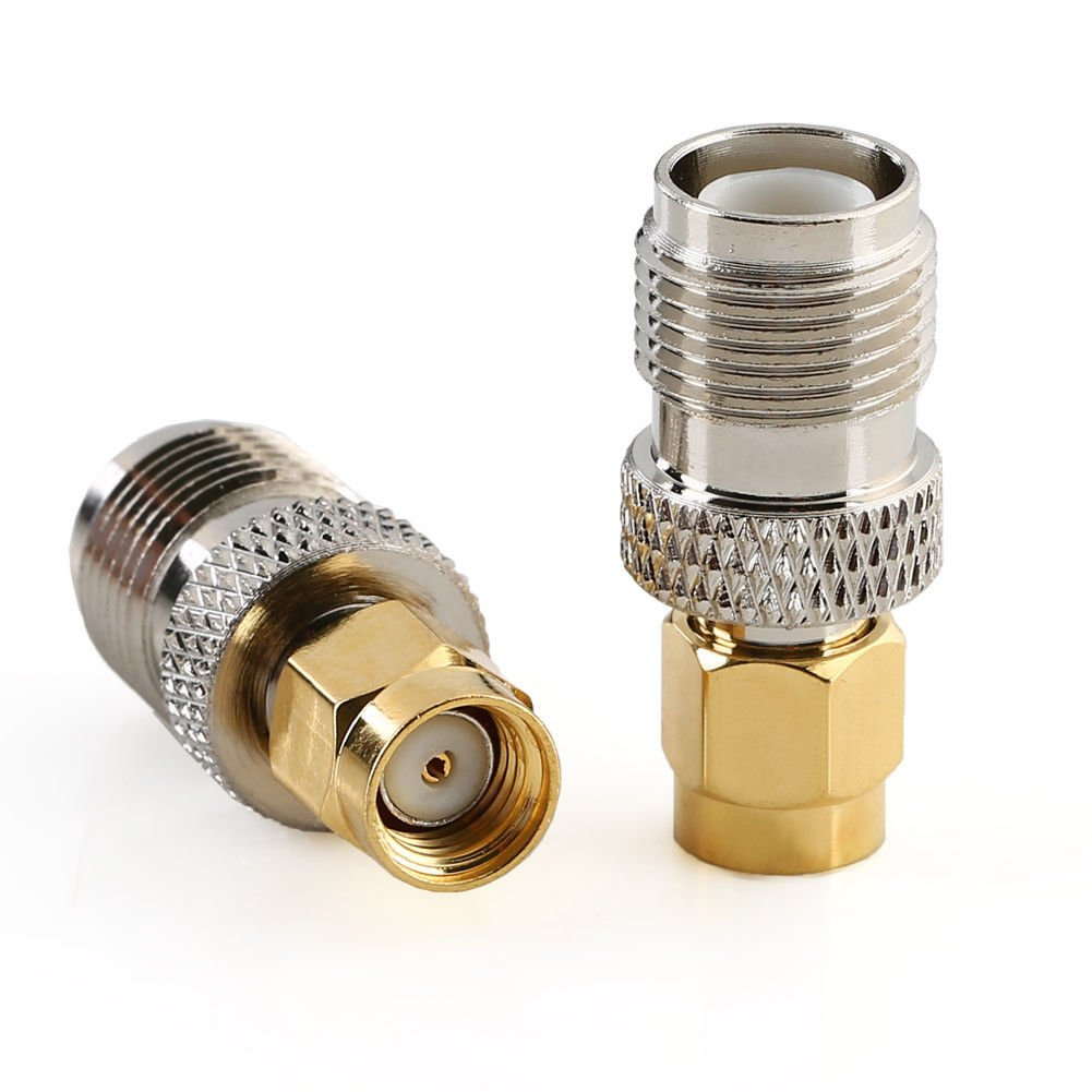 DGZZI 2-Pack RF Coaxial Reverse Polarity Adapter RP SMA Coax Jack Connector RP SMA Male to RP SMA Male