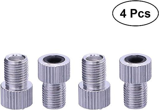 VORCOOL Adaptador de válvula,Aleta de Aluminio Presta francés a Schrader 4 Piezas