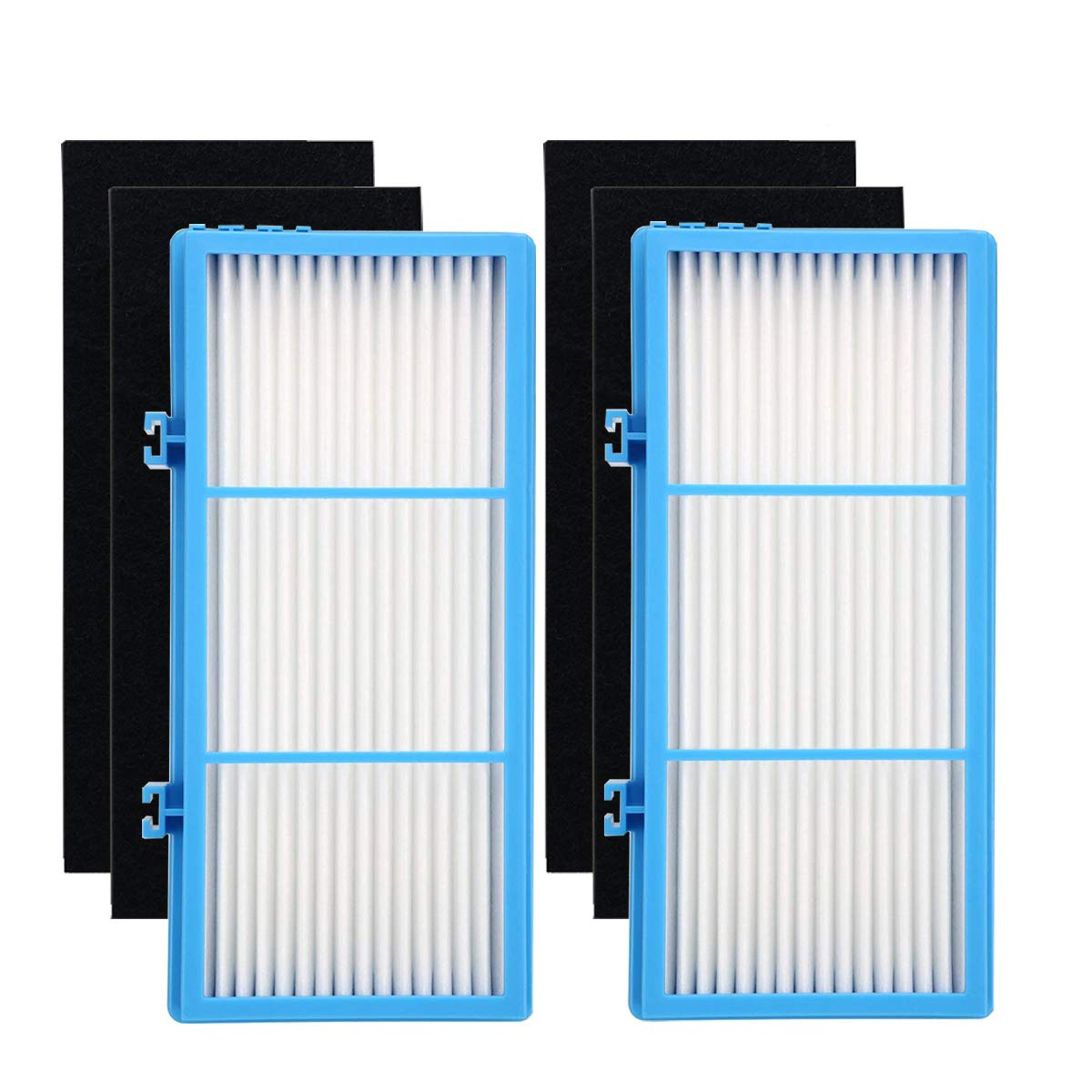 Yoodelife Replacement HEPA Filters for Holmes HAPF30AT Total Air Purifier AER1 Series (2 Packs) and Carbon Booster Filters for Holmes HAP242-NUC (4 Packs)