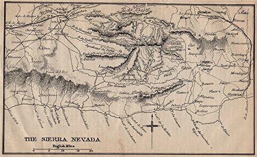 SIERRA NEVADA/COSTA DEL SOL. Antiguo mapa turístico. España. MURRAY, 1898: Amazon.es: Hogar