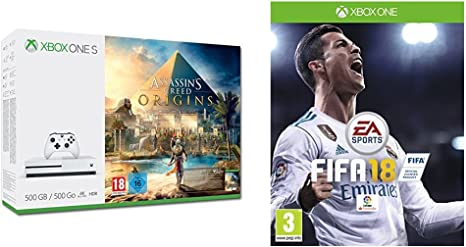 Xbox One S - Consola 500 GB Assassins Creed Origins + FIFA 18 - Edición estándar: Amazon.es: Videojuegos