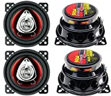 4) New BOSS CH4220 4' 2-Way 400W Car Audio Coaxial Speakers Stereo Red 4 Ohm
