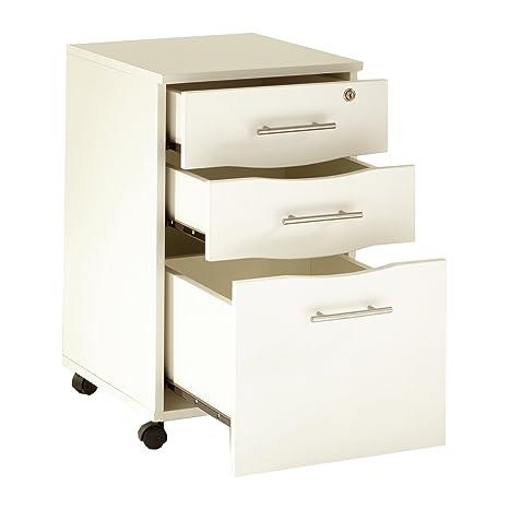 Cassettiera Ufficio 3 Cassetti.Cassettiera Per Scrivania 3 Cassetti Con Serratura Colore Bianco