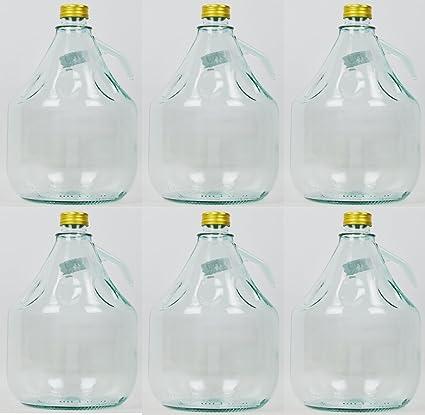 Unbekannt 6 Pieza 3L Gärballon con Rosca Botella Cristal Globo Aerostático Vino Entrega Gratuita
