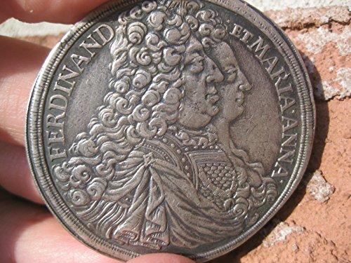Silver Thaler 1696 Ferdinand et Maria Anna, Austria, Schwarzenberg 47 mm coin (Uncirculated Nice Coin)