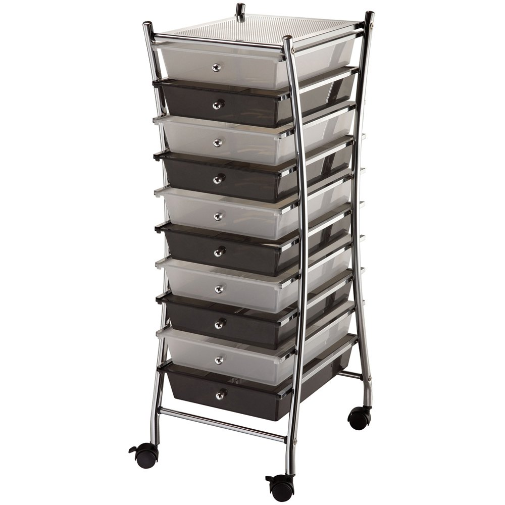Amazing Amazon.com: Blue Hills Studio SC10CSM X X Frame Storage Cart 10 Drawer  (Standard) Clear/Smoke: Arts, Crafts U0026 Sewing