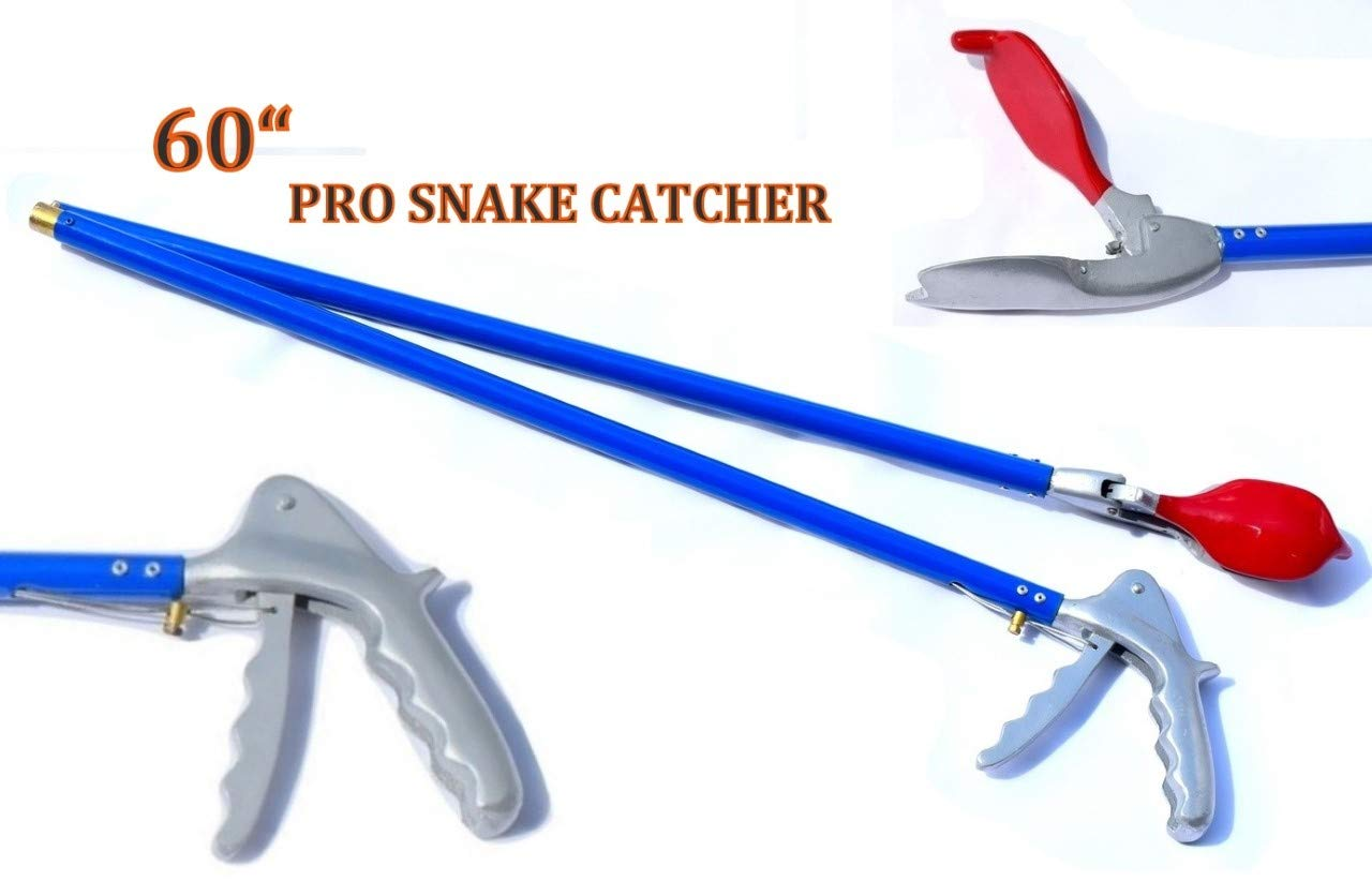 ARD-Champs 60'' Pro Heavy Duty Snake Tongs Reptile Grabber Rattle Snake Catcher Wide JAW Handling Tool by ARD-Champs