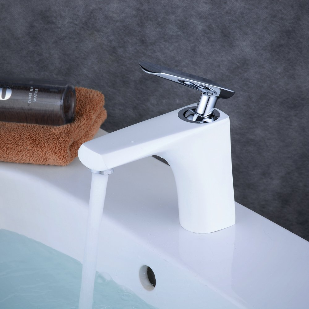 Beelee BL6311CH Robinet mitigeur chrom/é avec baignoire chrom/ée Robinet d/évier de salle de bain chrom/é moderne